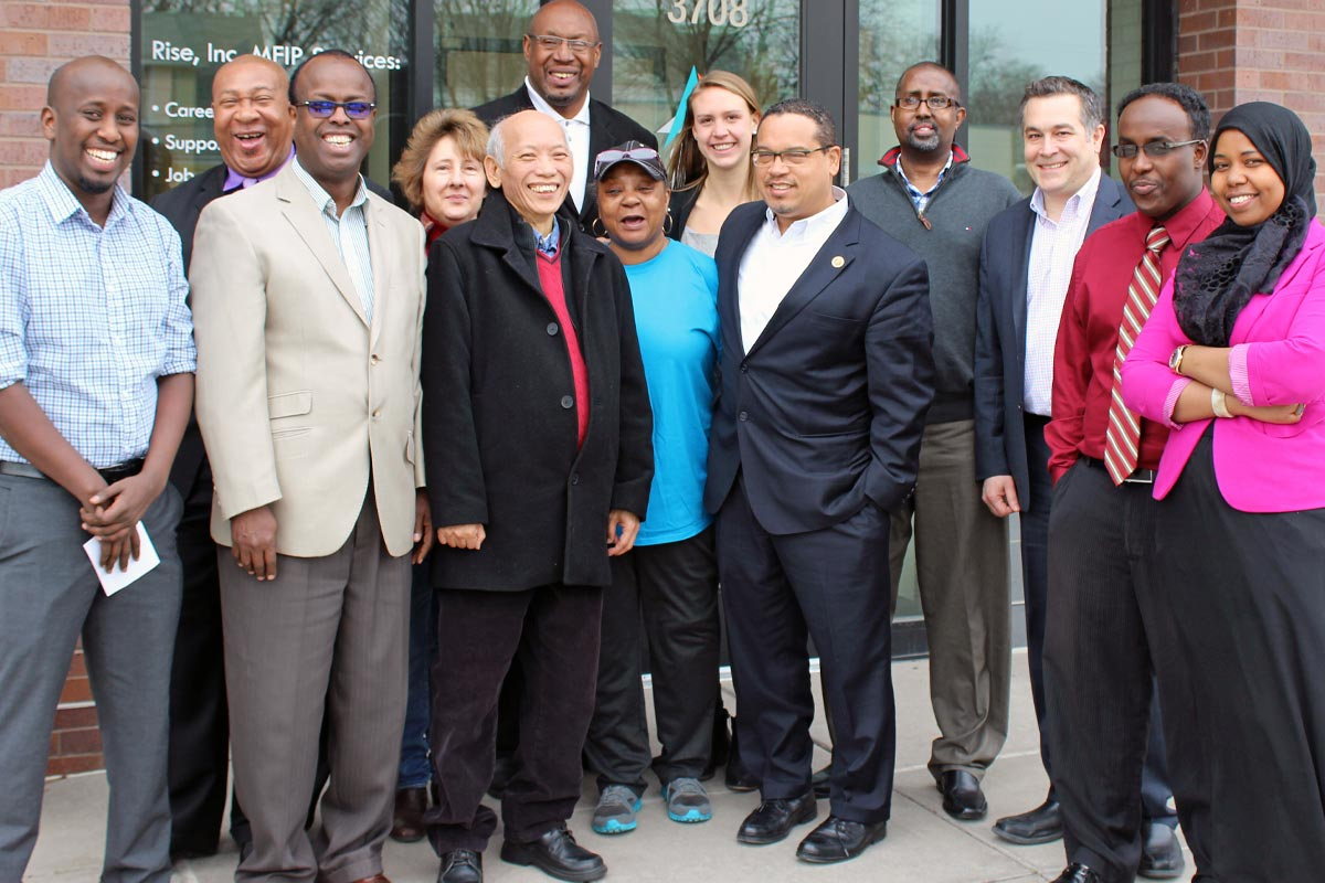 REP. KEITH ELLISON VISITS RISE'S PATHWAYS OFFICE