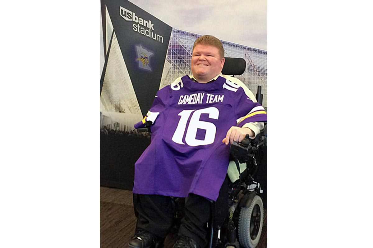 MIKE'S ENGAGING PERSONALITY MAKES HIM A GREAT FIT AT U.S. BANK STADIUM