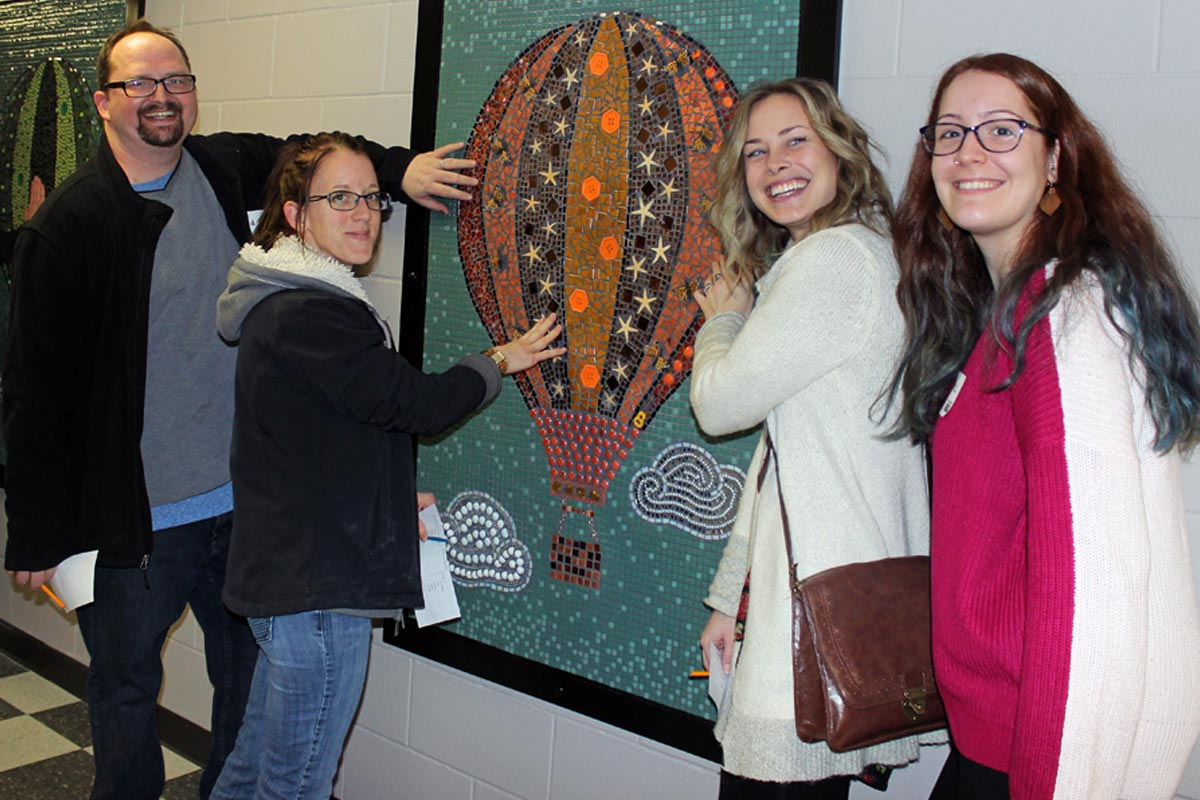 MORE THAN 180 PEOPLE HELP CREATE MOSAIC
