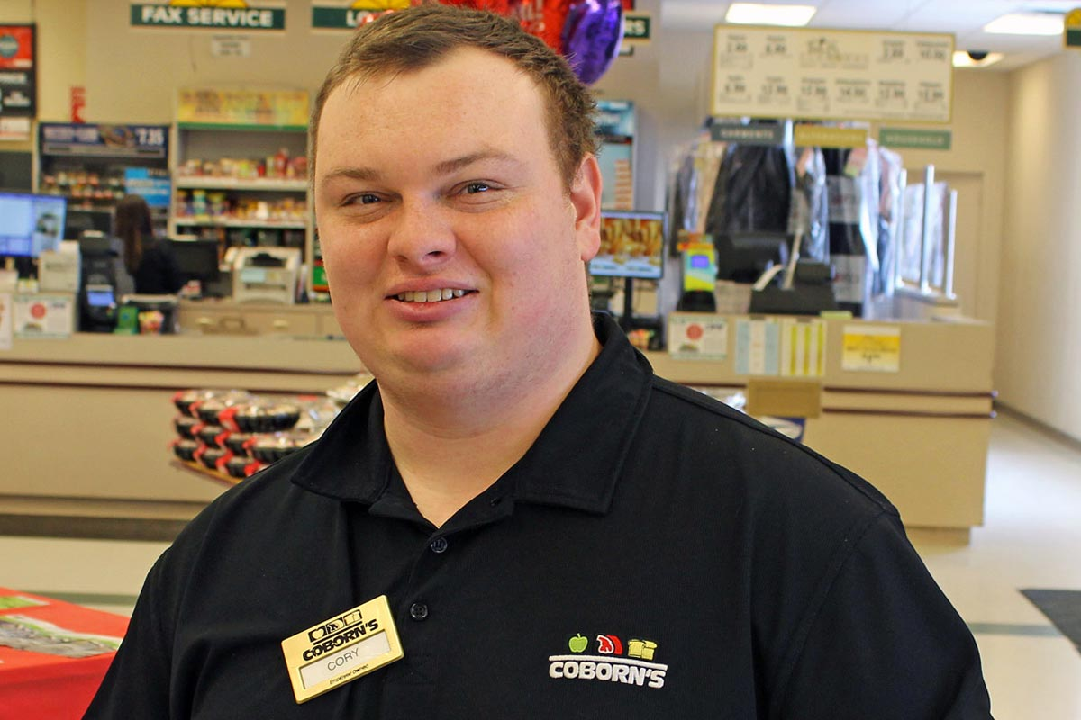CORY PUTS HIS GREAT PEOPLE SKILLS TO WORK AT COBORN'S